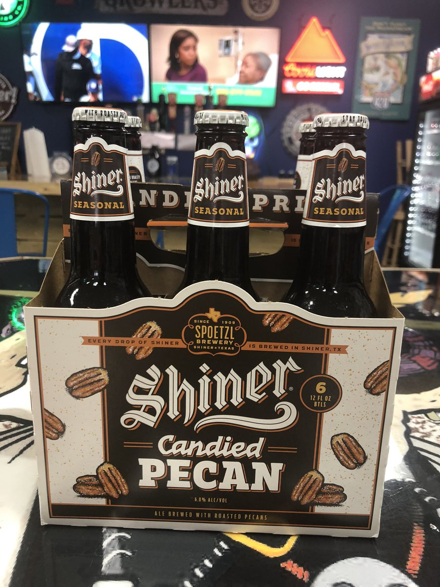 Try some Candied Pecan Ale from Shiner Beer. We've got the NFC & AFC Championship Games on TV so come see us.  We're offering curbside service too.  Call us at 601-790-7901.  Voted Best Beer Store 2 years in a row!! #bestof2020 #bestof2019 #bestbeerstore2yearsinarow