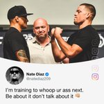Image for the Tweet beginning: Dustin Poirier said he wanted