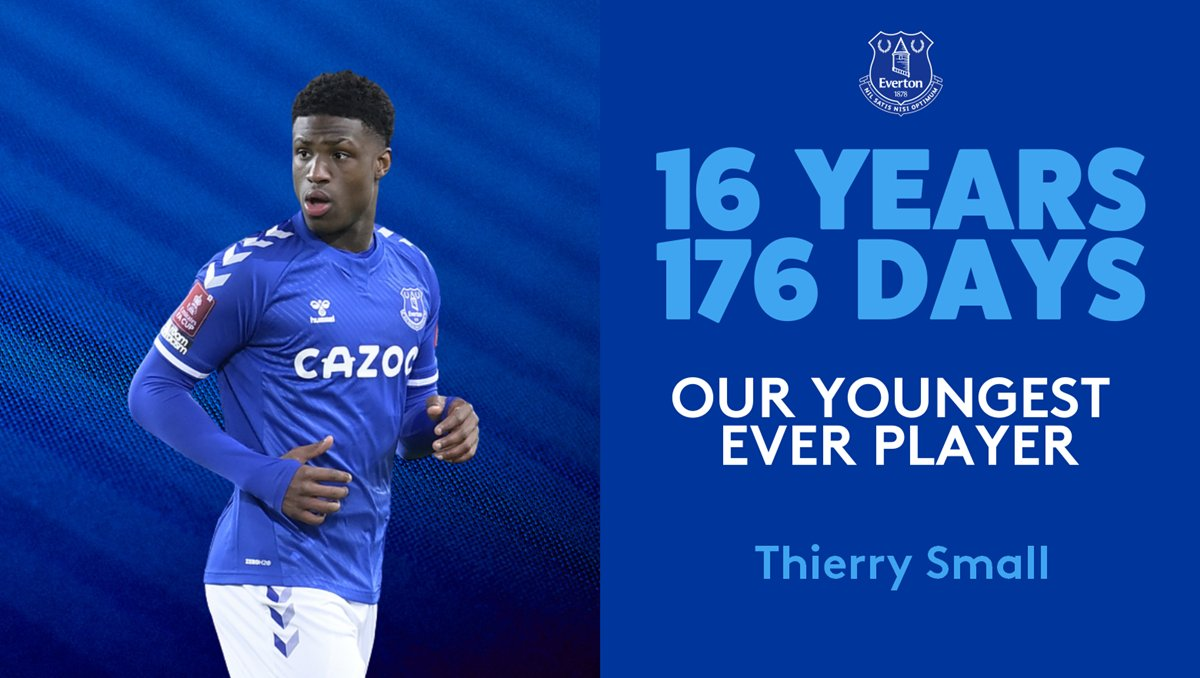 Our 🆕 youngest-ever player: Thierry Small. 👏  @EvertonAcademy 💙
