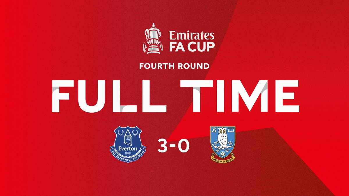 Congratulations to @Everton who progress through to the #EmiratesFACup fifth round 👏