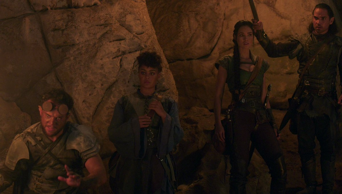 A guided tour of the underworld. There're only deadly kinjs, fire worms, ash showers, earthquakes and also our tour guide is schizophrenic... what could go wrong?😂 #TheOutpost #TheOutpostseries #Talon #JessicaGreen #Zed #Corven  #Wren