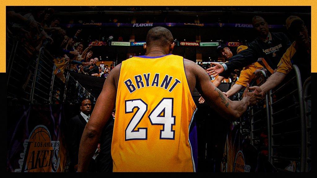 Honoring the legacy of Kobe Bryant 💜💛  • Detail episodes about Kobe: 5 PM ET, ESPN • Re-air of Kobe's final NBA game: 6:30 PM ET, ESPN • SportsCenter Presents: Kobe The Legend, The Legacy: 9 PM ET, ESPN https://t.co/fylcJKzA0v