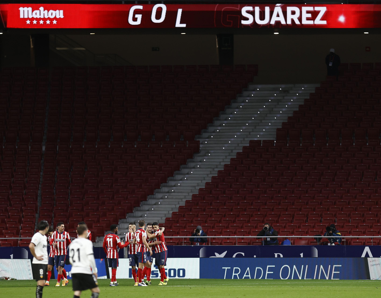 Los jugadores del Atlético celebran un gol en el Metropolitano (Foto: ATM).