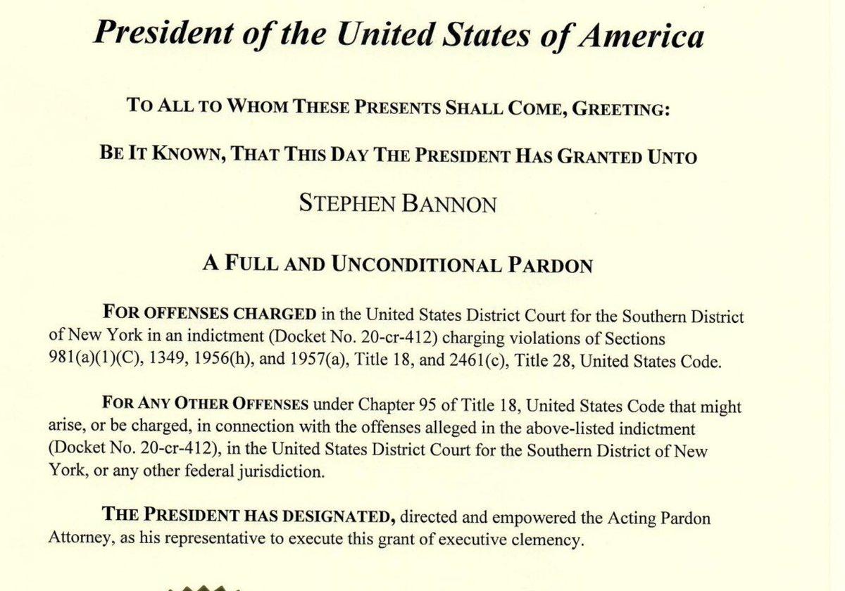 DOJ posted Trumps Jan 19th Pardon specifics: justice.gov/pardon/pardons… This is Steve Bannons pardon.