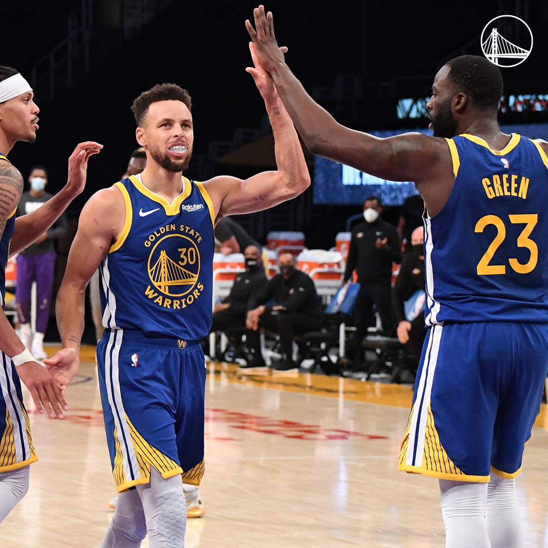 The Dubs scored 448 points this week, meaning 44,800 meals were donated to families in need through our partnership with @kpnorcal and @AthletesCorner_  Learn more about Swishes for Dishes »