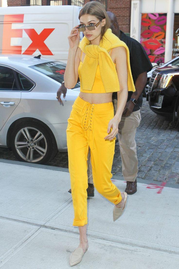 Replying to @wonderxwoman_: Gigi Hadid monochromatic outfits; a long thread⭐