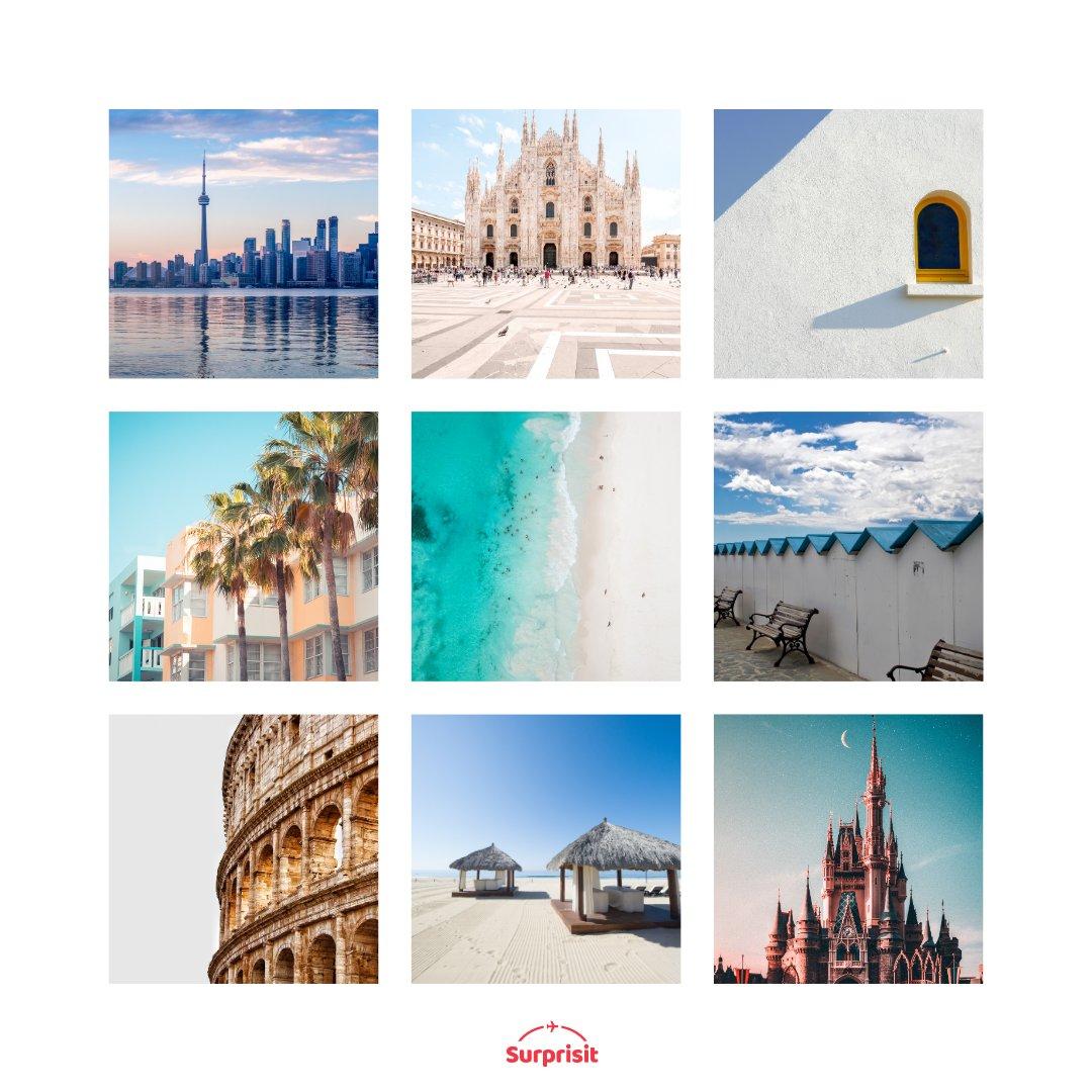 I couldn't pick one😍  what's your favorite city destination? #travel #explore #adventure #surprisedestination