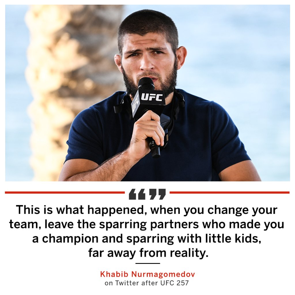 Conor McGregor responded to Khabib Nurmagomedov's comments after #UFC257  @espnmma