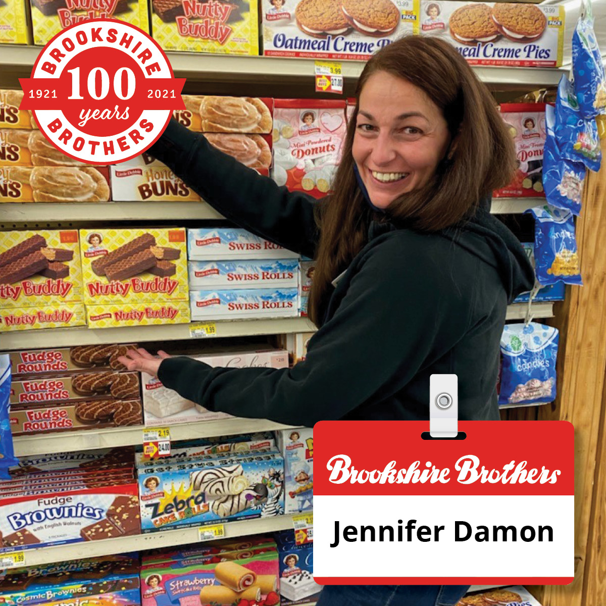 Office Clerk Jennifer Damon comes in every day with the right attitude, said Edgewood, TX Store Director... Read more: brookshirebrothers.com/employee-kudos… #GoodNeverGoesOutOfStyle #Congratulations #ShoutoutSunday #EmployeeRecognition #BBPartner #EmployeeOwned #YourCommunityGrocerSince1921