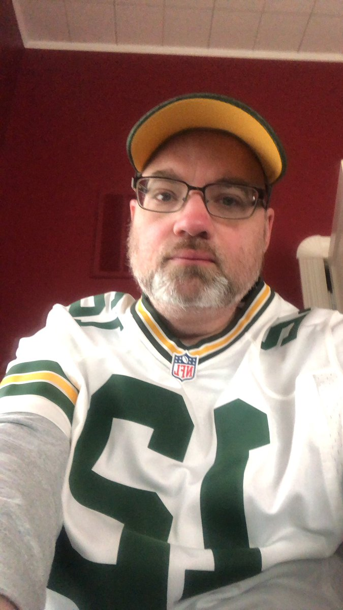 "This is the only time you'll see me in full ""gear"".. #GoPackGo"