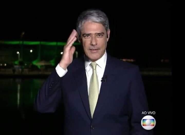 Quando  anunciava no #JN a vitória de Bolsonaro :  Bonner