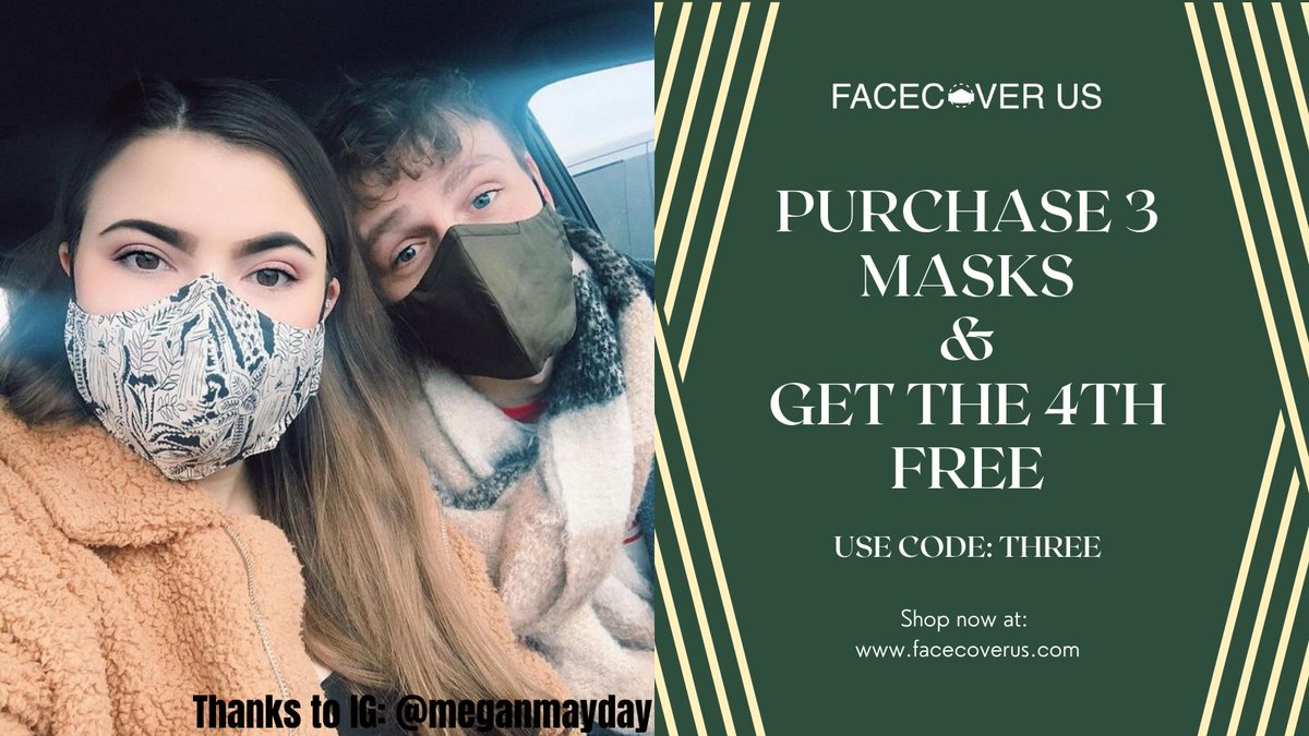 From IG: @meganmayday wearing In The Trees & Olive Green   #facecover #facemasks #facecoverings #giftidea  #supportlocal #madeforyou #facecovers #HappyNewYear2021 #ValentinesDay #fashionable #FaceCoverUS #WearAMask