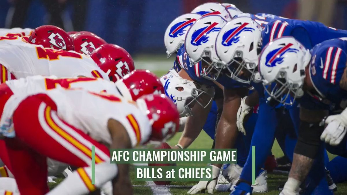 Buffalo is in their first AFC championship since beating Kansas City in 1994. The Bills have won 11 of 12 since losing to KC in Week 6. The Chiefs will have Patrick Mahomes, who sustained a concussion last week, but has been cleared.  @APdaveskretta >>