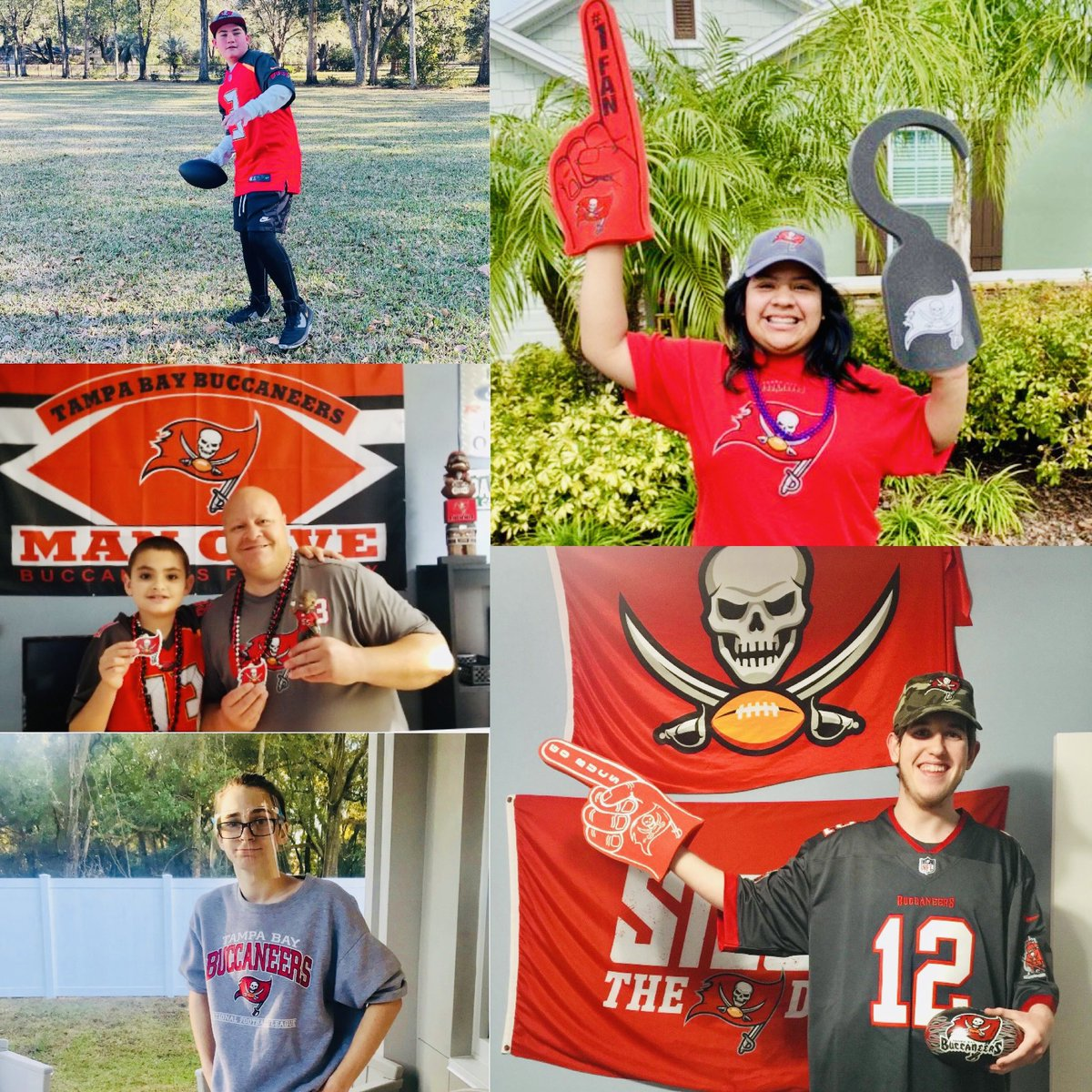 IT'S GAME DAY! 🏈🏴‍☠️   We're cheering on our @Buccaneers! One more WIN until the Super Bowl! Good luck, boys!! ❤️☠️🖤 @FloridaFUTP60   #RaiseTheFlags #GoBucs  #FuelGreatness