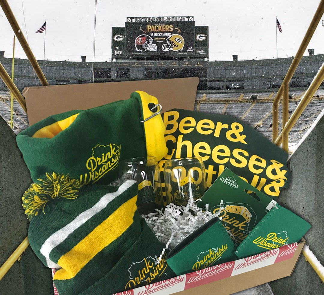It's Gameday at Lambeau! Bucs @ Packers for the NFC Championship!! And we don't take kindly to pirates in these parts. Click over to Facebook and enter to win a free DW Green & Gold Gift Box. #GoPackGo