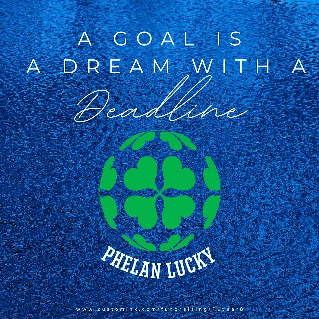 "Goal = 8,100 shirts. DEADLINE: Midnight tonight. Ultimate goal: Make life better 4 those with #phelanmcdermidsyndrome You'll thank me when 3/17 rolls around. Don't be the person who says, ""How can I get a Phelan Lucky shirt?"" Once the campaign closes you are outta ""LUCK""!"