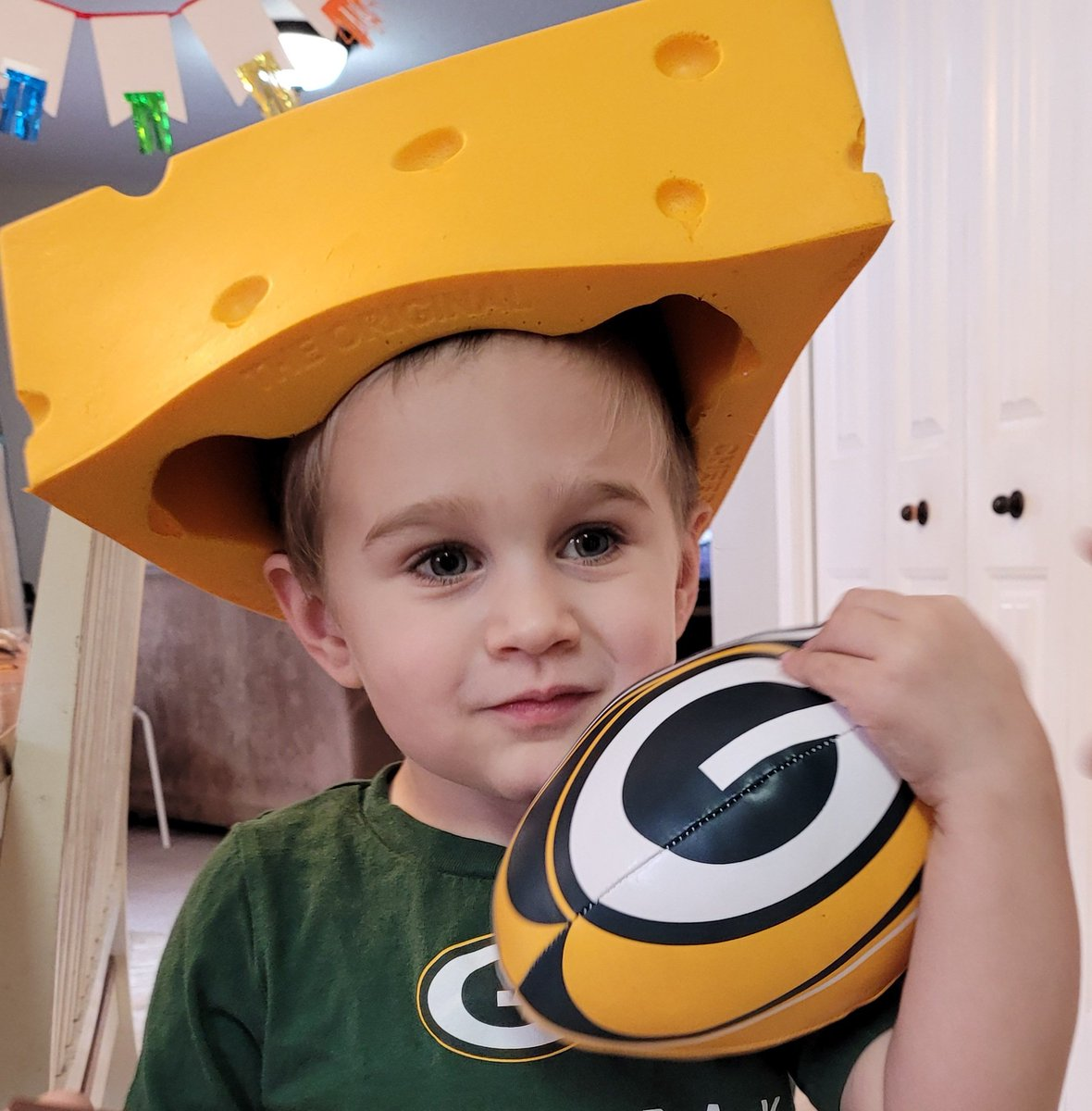 Someone is ready for the NFC championship game to get started! #GoPackGo  cc: @hobocita