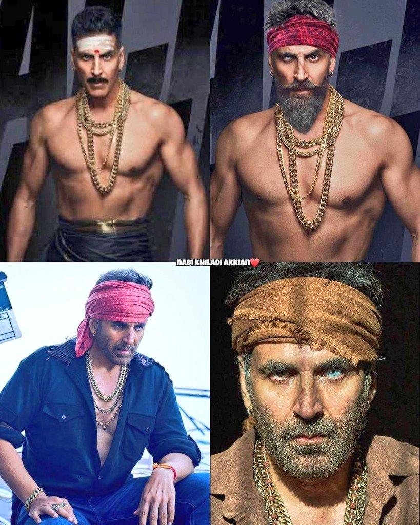4 different #BachchanPandey looks  @akshaykumar  dam excited for this movie #30YearsOfKHILADIsm