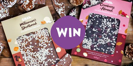 WIN A MILLIONAIRES SHORTBREAD & CRANBERRY AND ALMOND SUPER SLAB 💕 Send these super scrummy indulgent chocolatey treats to family, friends or treat yourself 😊 For the chance to win, simply Follow Us & RT!   #Win #Giveaway #Competition #GnawChocolate