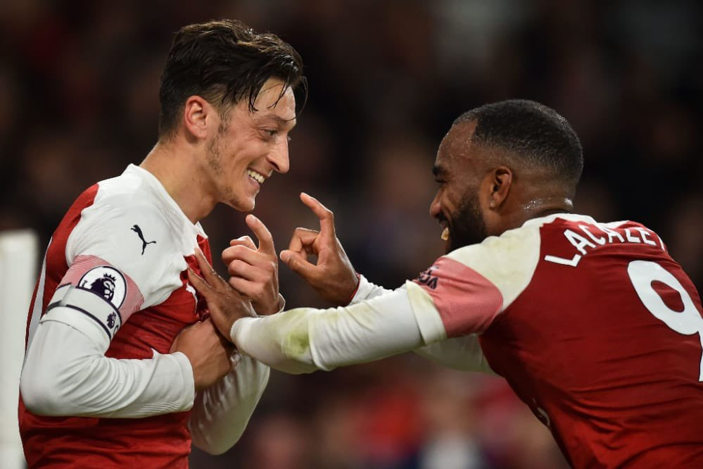 Mr Assist, it's been a pleasure to play with you and especially to score your last assist at Arsenal. Good luck at your new club, they're lucky to have a No10 like you ♣️〽️❤️ #M1Ö