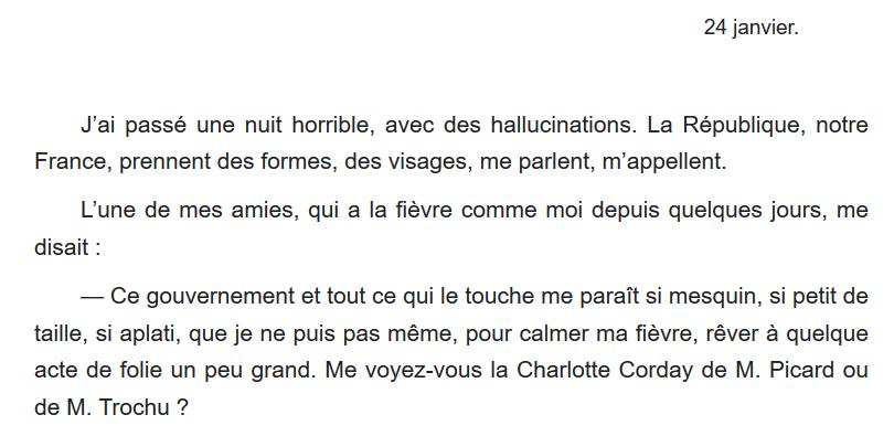24 janvier 1871 : fièvre patriotique et appétits de violence chez Juliette Adam. 😡🗡️