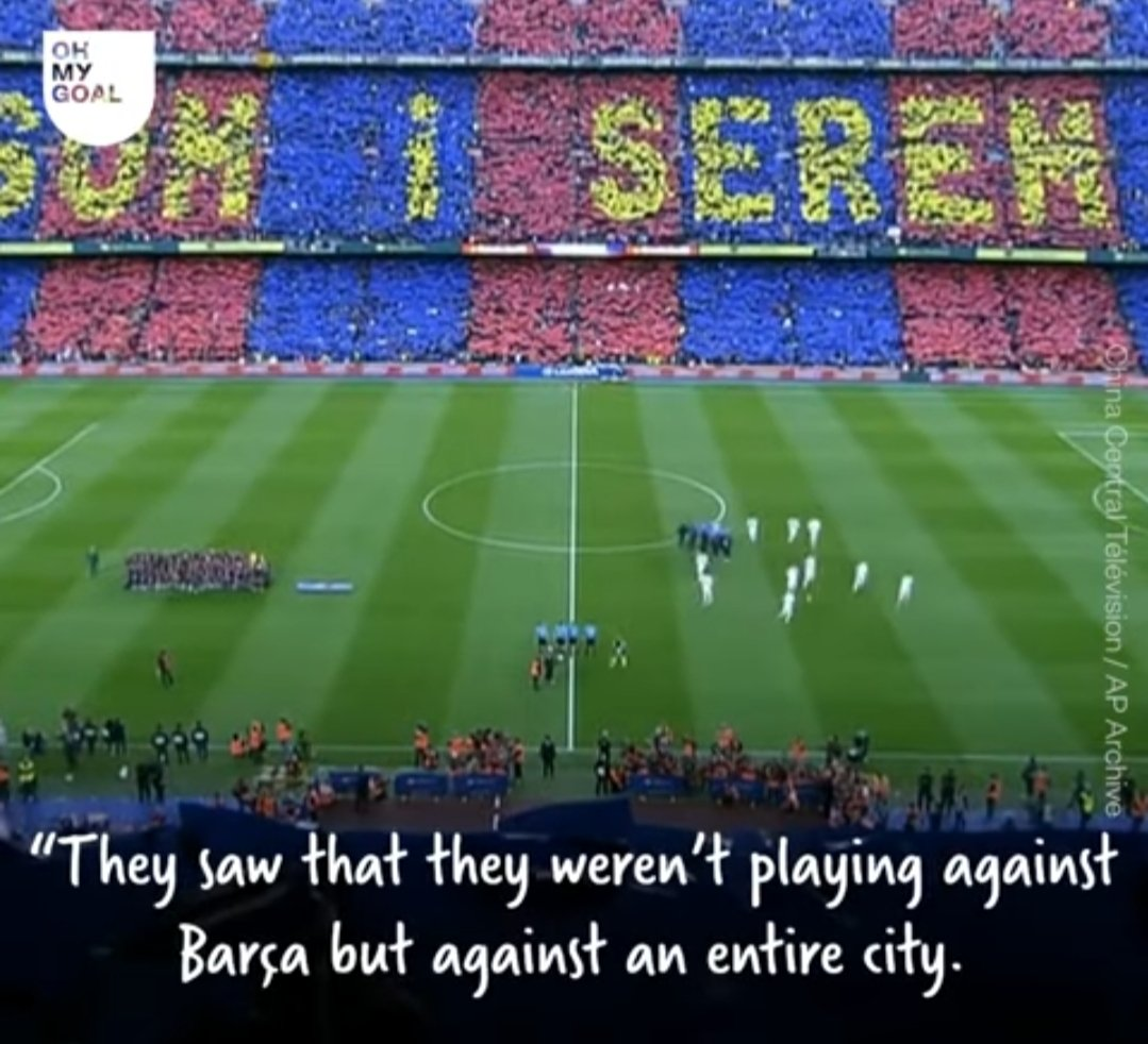 This was what the PSG players felt before the Remontada👇 People of Barcelona are our real strength...with them by our side we can do anything 💪💪 #ForcaBarca #CampNou #Barcelona #UCL #ViscaElBarca
