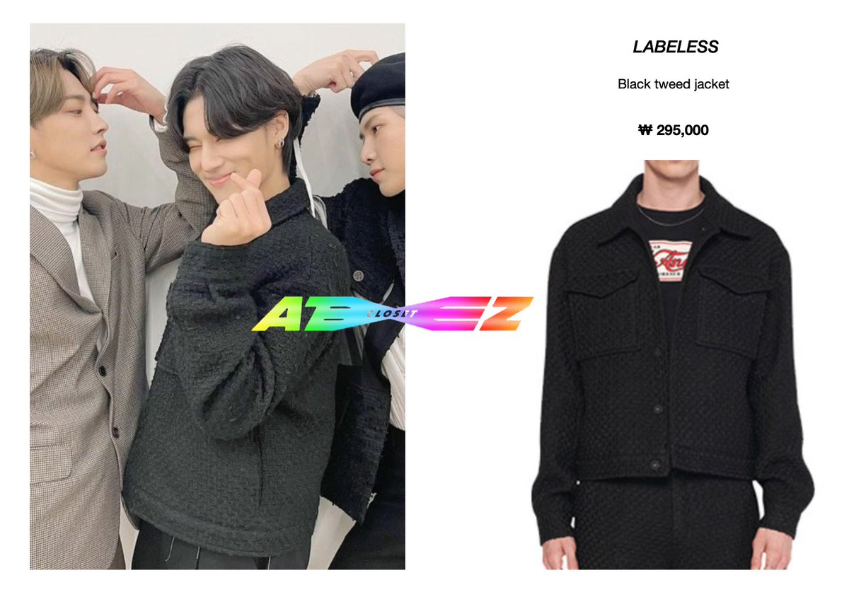 210123 - SBS HANBAM <Meat Up> + IG post - Wooyoung [wearing LABELESS black tweed jacket]  Available here: (sold out)  @ATEEZofficial   #ateezcloset #ateezfashion #wooyoungfashion #WOOYOUNG #jungwooyoung  #우영 #정우영  #에이티즈