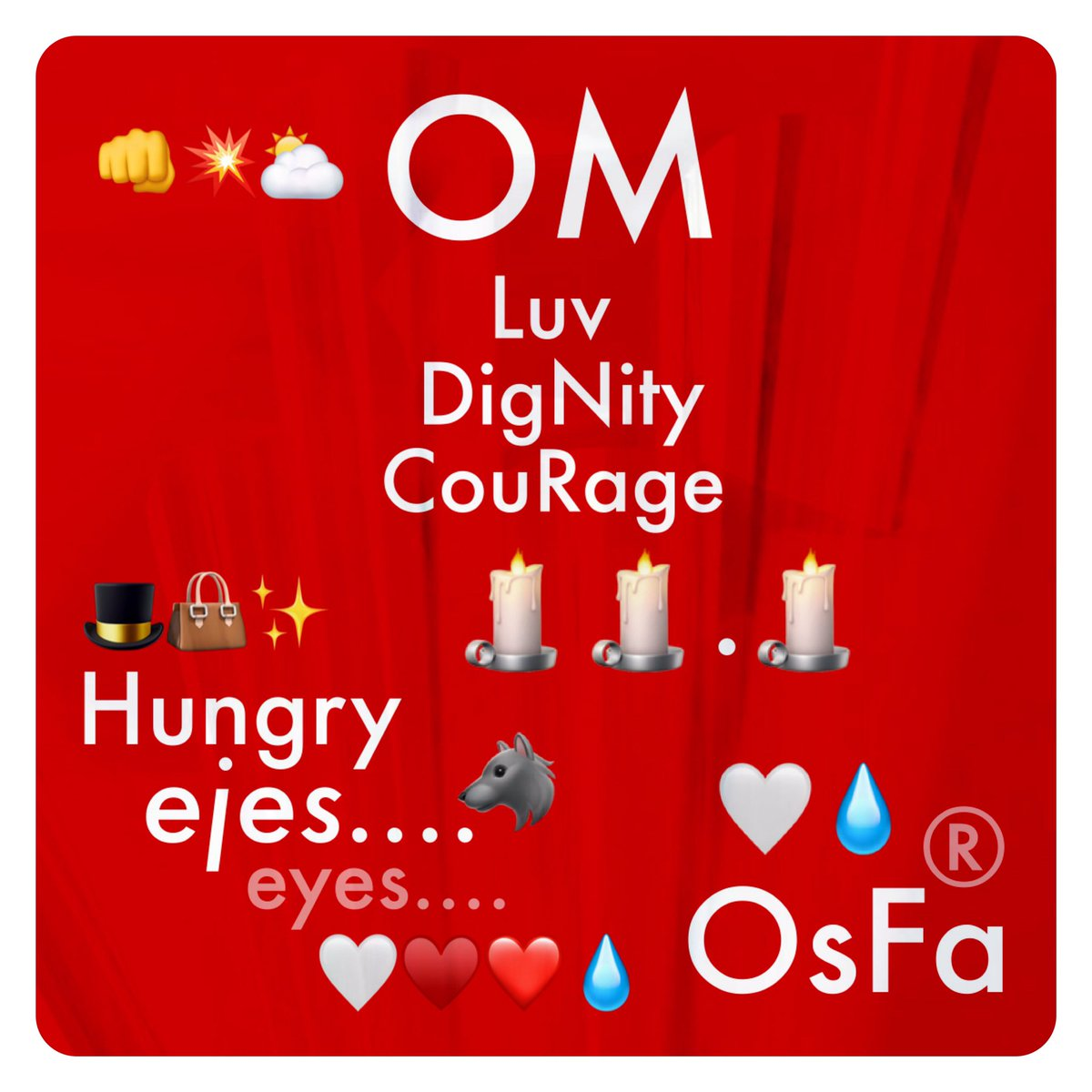 """#OM 👊❤️👍.. ..🕯🕯.🕯 """"I FeeL #the_Magic🦂 between #yoU_and_I 👊💥⛅️ I'vE gOt #Hungry_ejes🐺 #eyes 👊🏼🤜🏼✨🌟✨🤛🏻👊🏻NoW I've gOt yoU in #my_SighTs🙏🏻 mi PA #OjosBonitOS TeAMO #Óscar!!"""" 🤍🤜🏼🤛🏻🤍 🤍♥️❤️💧 🎩👜✨ w #Luv #DigNity #CouRage #El_MagO #LObitO #OnicO #OMLegacy By #OsFa® 🤍💧"""