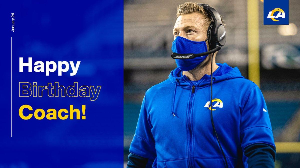 RT to wish Coach McVay a happy birthday! 🎉