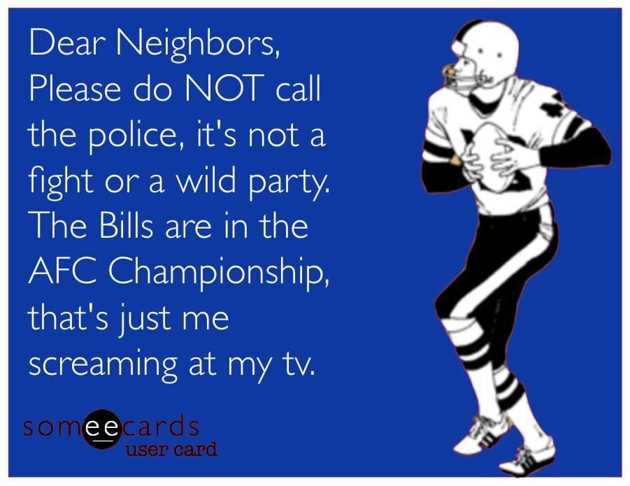 You've been warned. #BillsMafia #BuffaloBills @BuffaloBills #AFCChampionship #BillsByABillion