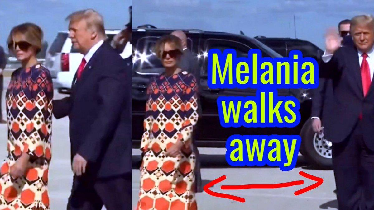 Melania walks away from Trump as they arrive in Florida. Have you seen this viral video?  Watch the Video Here👉   #Trump #Melania #DonaldTrump #MelaniaTrump #Florida #viralvideo #topface2021 #HAPPYLUCASDAY #TREASURE #sundayvibes #lovelylouies #LucasDay