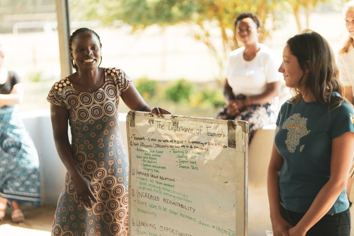 Women empowering women. 💗⁠ ⁠ #femaleempowerment #genderequality #empowerwomen #girlpower #womensgroup #community #sustainabledevelopment #responsibletravel #responsiblevolunteering #africanimpact