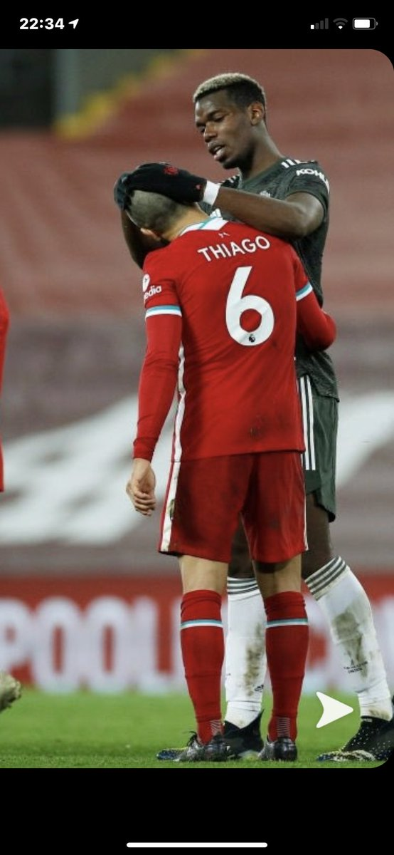 Pogba MOTM on Thiago head top we are sooo clear #mufc