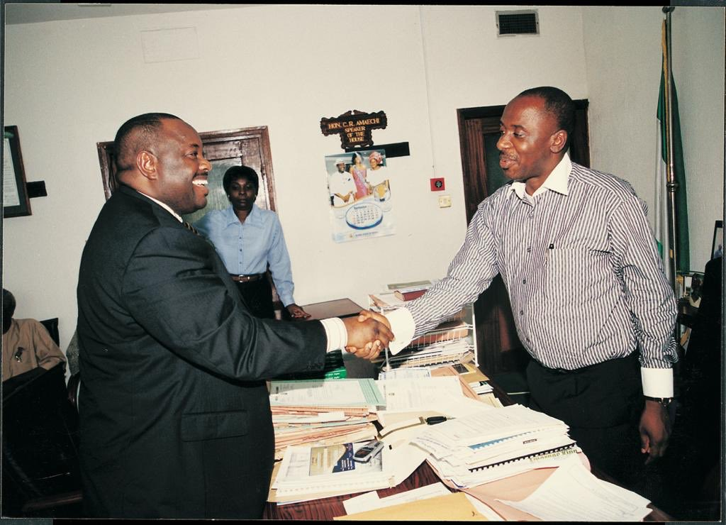 From the archives: Dele Momodu on a visit to Rivers State House of Assembly Speaker The Rt. Hon. Chibuike Rotimi Amaechi in Port Harcourt over 16 years ago...