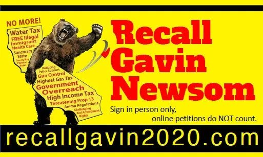 California has 1.2 million signatures to RECALL Gov Gavin Newsom.  We have 6 weeks to get 300,000 more signatures.  Please repost this even if you're not from California... Help us reach more Californians!