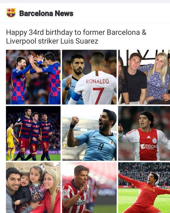 Happy birthday to former Barcelona & Liverpool striker Luis Suarez