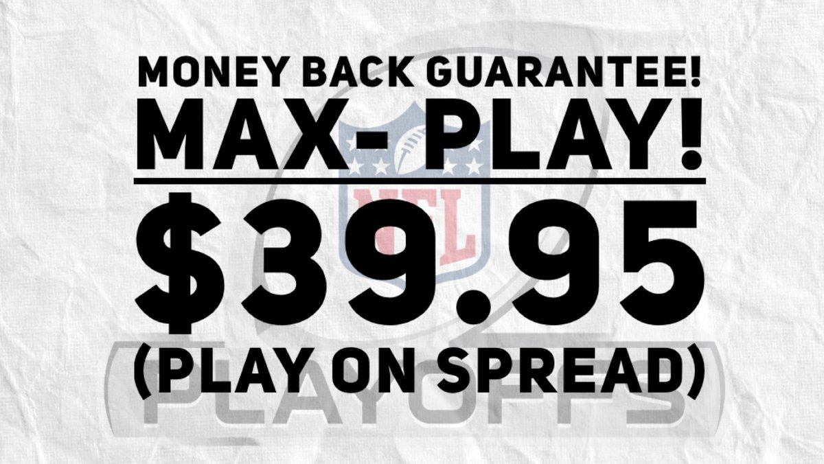 🚨MAX-PLAY MONEY BACK GUARANTEE !!!  WHALE PLAY !!! 🐳  If we don't win, you will receive a full refund, no questions asked!   Venmo = @jsharp59 Cashapp = $jsharp591 Zelle = @jewishsharp@yahoo.com  #NFL #ChampionshipSunday #GamblingTwitter #NFLPlayoffs