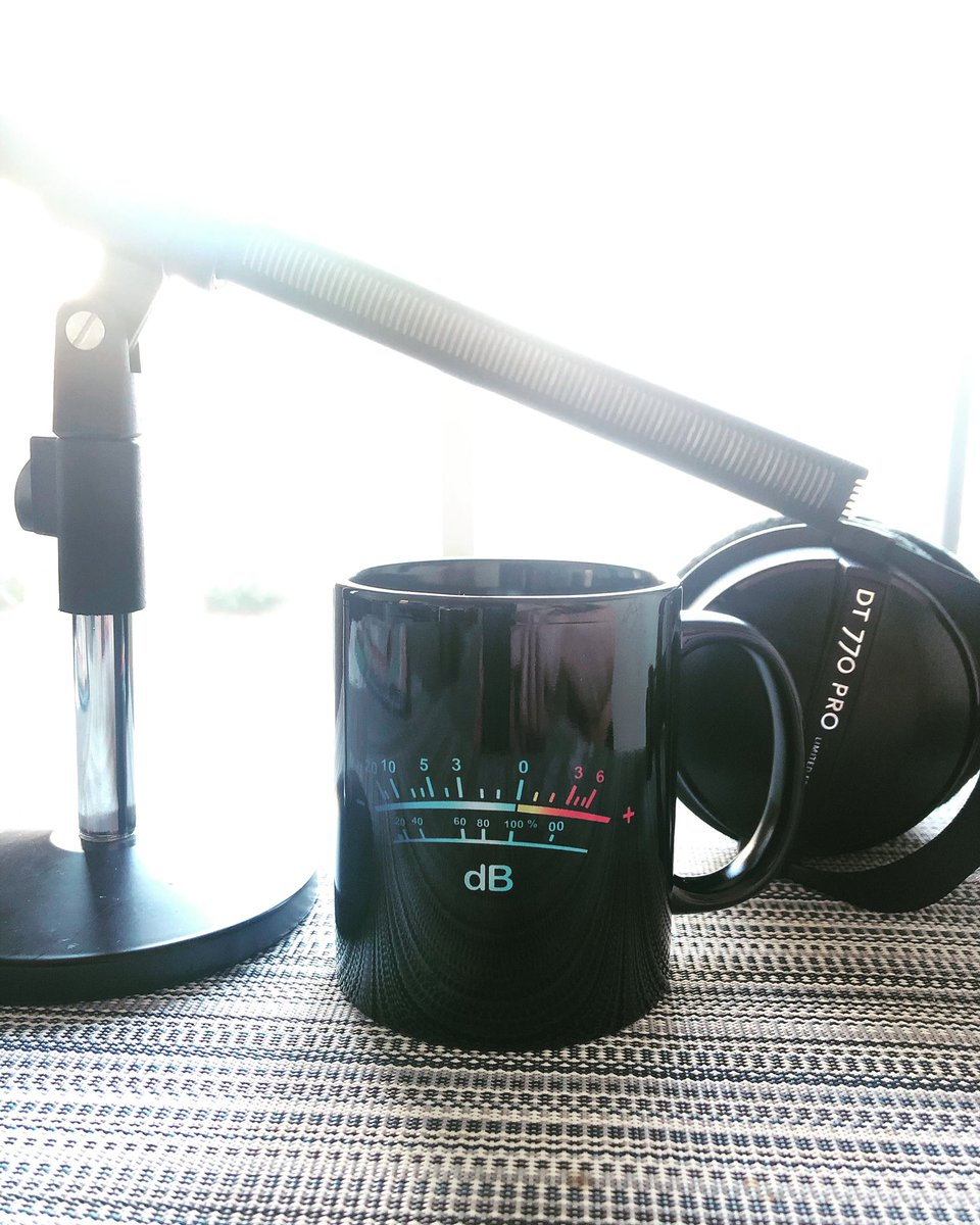Such a thoughtful gift, @dianeapang ! I love my new mug ☕️ . Thank you! 🙏🏻🎤🎧🙏🏻  #db #voiceover #branding #brand @SennheiserUSA  @beyerdynamic @beyerdynamicUSA
