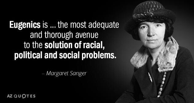 "BLM and the Left both support ""Planned Parenthood"". Planned parenthood was founded by Margaret Sanger. Margaret was an outspoken racist and anti-Semite.  #BlackLivesMatter #Antifa #AntiFascist"