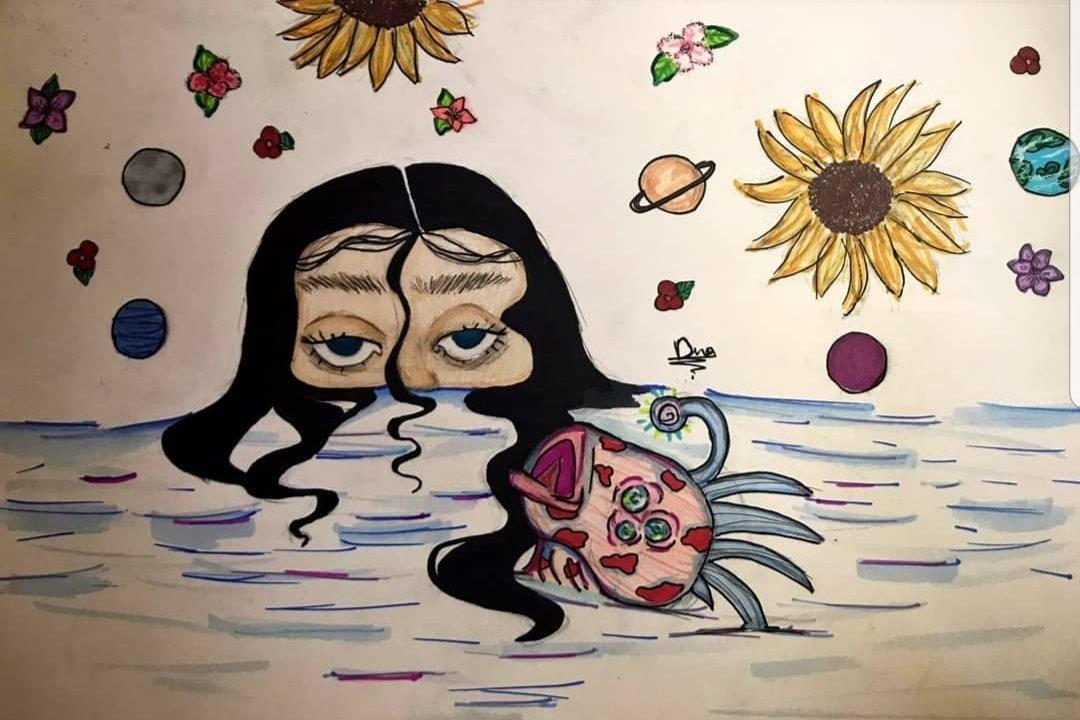 ❁𝓼𝓲𝓷𝓴𝓲𝓷𝓰 𝓲𝓷 𝓽𝓱𝓮 𝓭𝓪𝓻𝓴𝓷𝓮𝓼𝓼 𝓸𝓯 𝓱𝓮𝓻 𝓮𝔂𝓮𝓼 ❁ #eyes #artist #art #2021y #love #sunflower #song #cute #hairstyle #pincel #girl #painting #moon #flowers #lake  Hope you like it ❤