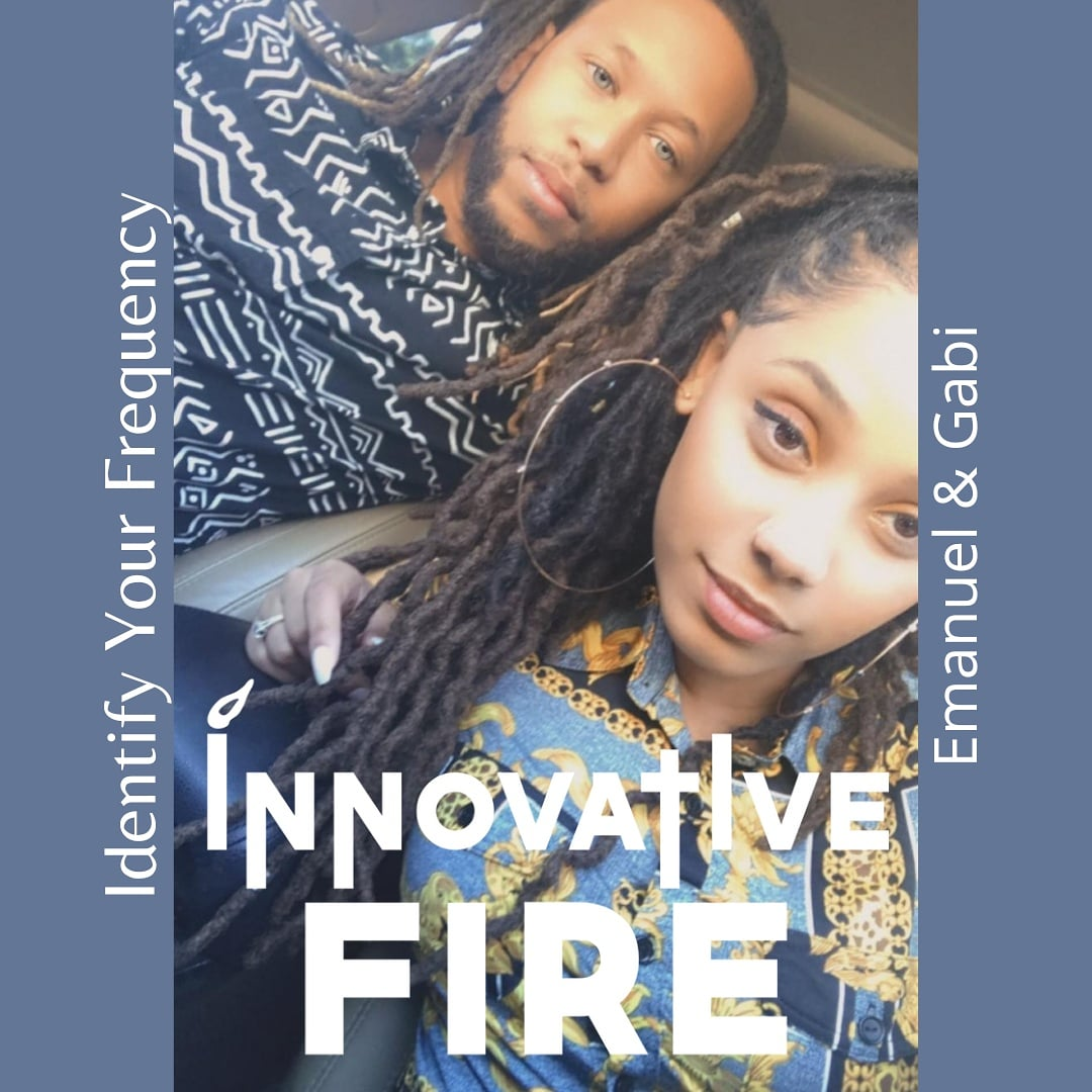 The creatives behind the brand... #InnovativeFire #if #husbandandwifeteam #couplegoals❤ #identifyyourfrequency #entrepreneurs #ministry #brandowners #businessownership #creatives #communitysupport #artists #menwithlocks #womenwithlocs #coupleswithlocs #locstyles #locs #eyes