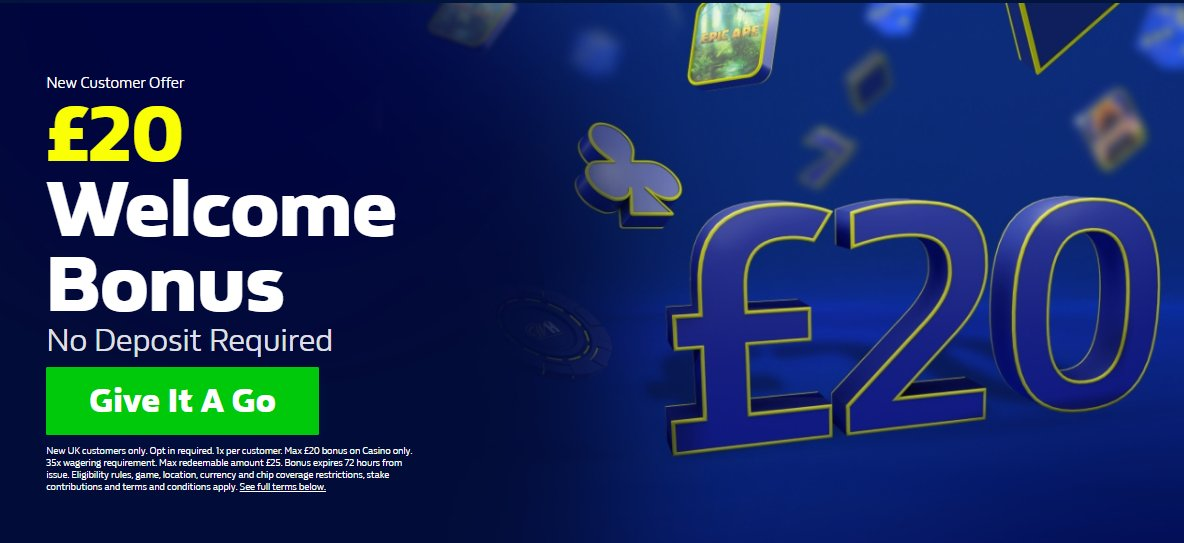 £20 FREE Welcome Bonus No Deposit Required New Customer Offer Claim yours here📲  18+. Play Safe. New UK customers only. Opt in required.#Ad  #Casino