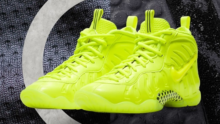 Full Charged 🔋 ⚡ The #Nike Foamposite Pro 'Volt' is launching in full-family sizing on 1/27!