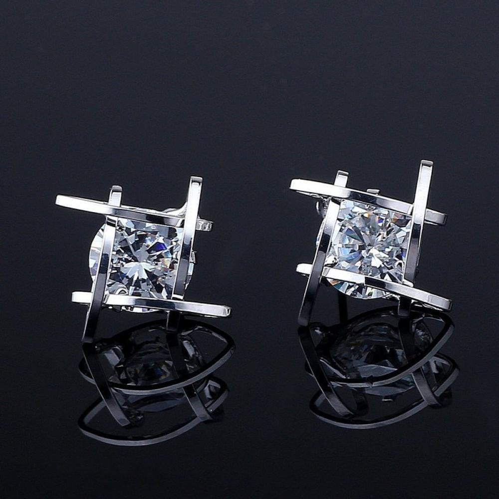 #eyes #design Triangular Trinket Studded Earrings