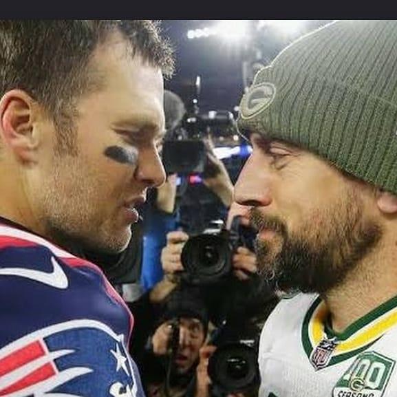 The GOAT vs T Brady! #GoPackGo #FrozenTundra #MVP https://t.co/0u2snU60pj
