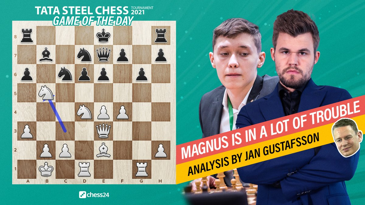 test Twitter Media - 18-year-old Andrey Esipenko defeats World Chess Champion Magnus Carlsen at his 1st attempt! @GMJanGustafsson takes us through an historic game:   https://t.co/PQHoEnl0vT  #c24live #TataSteelChess https://t.co/cgiCtouiAP