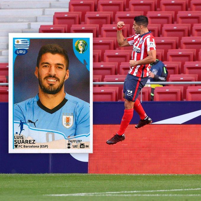 El Pistolero is having his 34th birthday!!!! Happy birthday, Luis Suárez!!! First in La Liga with Atlético Madrid.