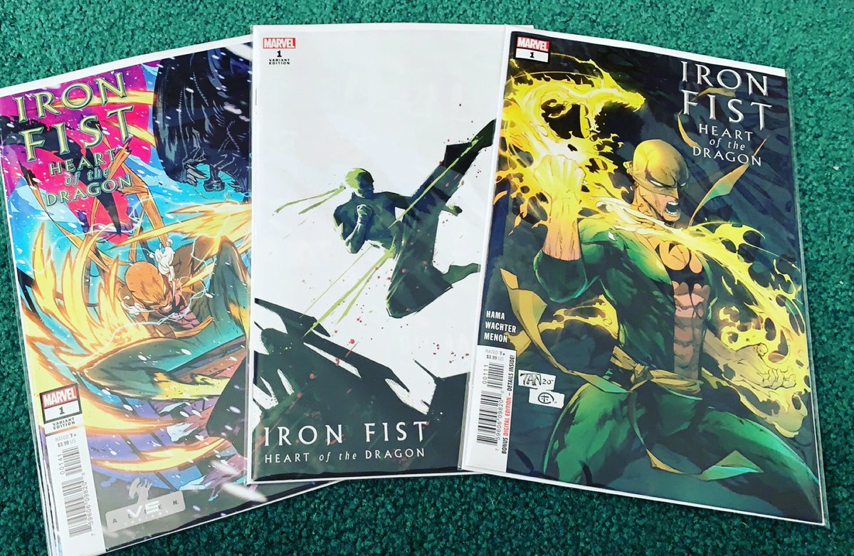 Love my local comic shop! @Descentn2Gaming  Got issue 1 of the new Iron Fist run plus two of the variant cover 🤙🏼 . #IronFist #Marvel #marvelcomics #comics #comicbooks #collecting #collector #martialarts #kungfu #Karate #martialartist