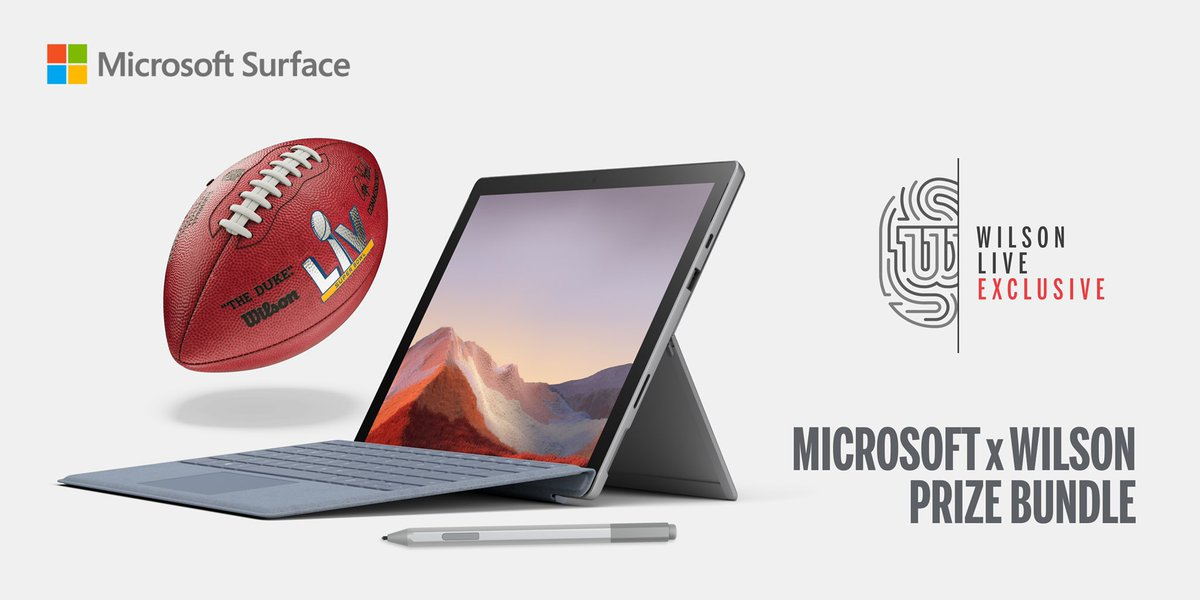 We spy with our little eye, a Microsoft Surface?👀  Today on Wilson Live, we are launching the ultimate challenge.One lucky winner will receive a Surface Pro 7,Typecover, Surface Pen and the SBLV Duke Football. To enter, download Wilson live and create an account...