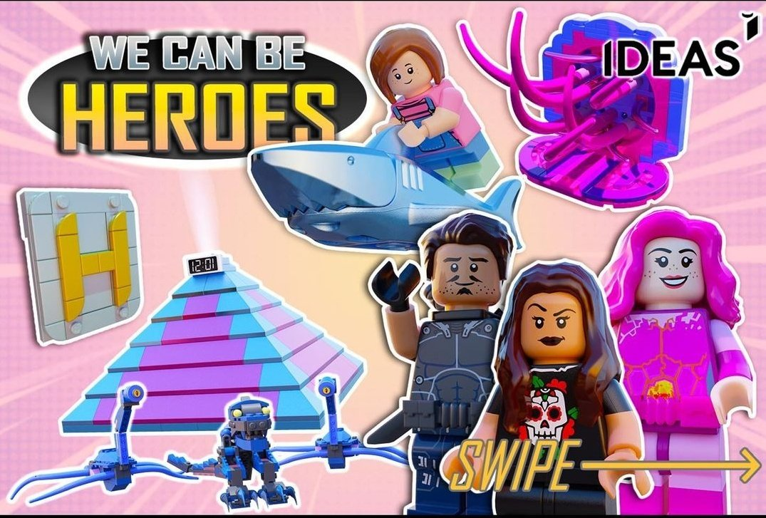 For this set to be considered for production are needed 10,000 supporters!! We can do it!  #LEGOxWeCanBeHeroes #LEGOWeCanBeHeroes #WeCanBeHeroes  ➡️